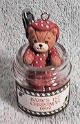 Tasty Tidings bear in baby food ornament H6-3-6