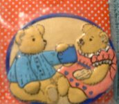 Bears drinking coffee magnet MIP