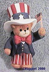 Uncle Sam bear with American flag G26-2-1